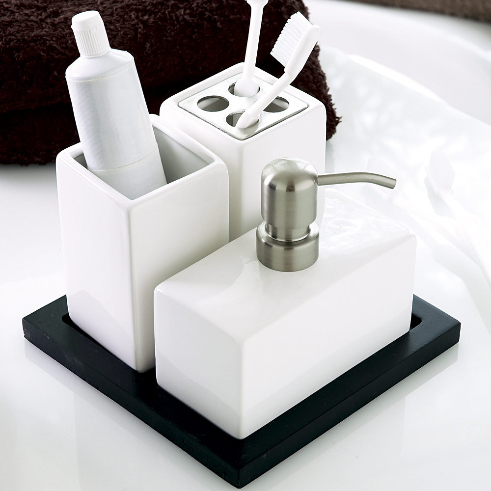 Fair Black And White Bath Set Inspiration Of Best Bathroom